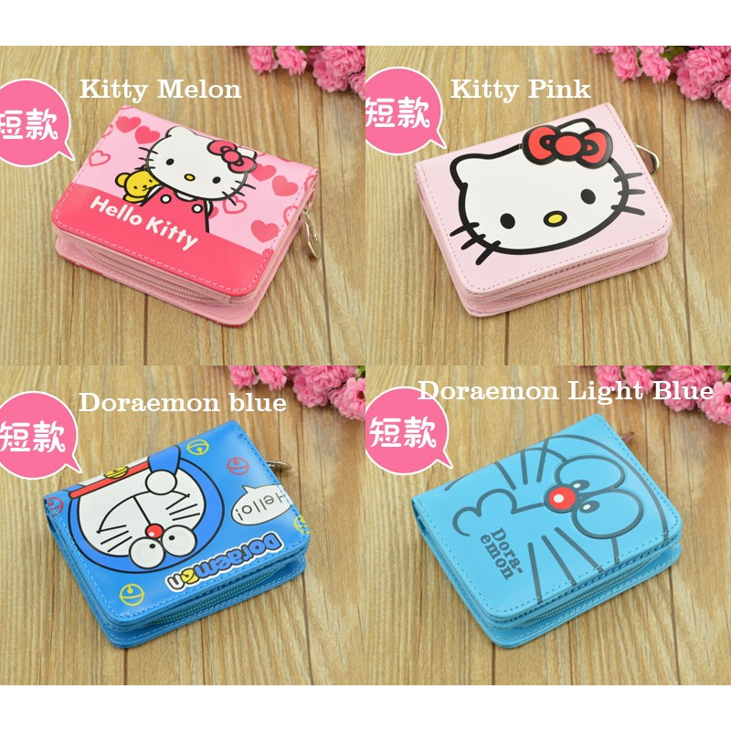Hello Kitty Doraemon Kids Cute Wallet