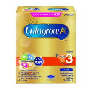 ENFAGROW A+ ASLI & VANILLA STEP 3 (1.8KG) ] ]BUY 2 BOXES AND GET 1 MULTIPURPOSE BACKPACK [ [