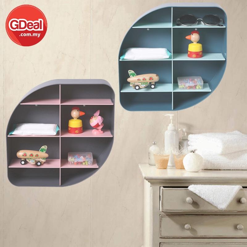 GDeal European Style Solid Colour Living Room Decoration Storage Rack Wall Hanging Organizer Rak Dinding رق دينديڠ