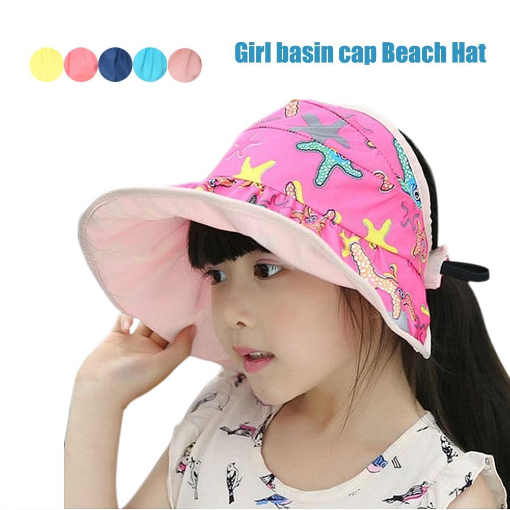 95c799de56605 Children s Kids Sun Hat Summer Fashion Hat Beach Cap Toddlers Infants