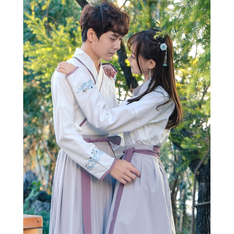 Hanfu Suit Women Men CP Embroidered Traditional Chinese Ancient Costume Coat