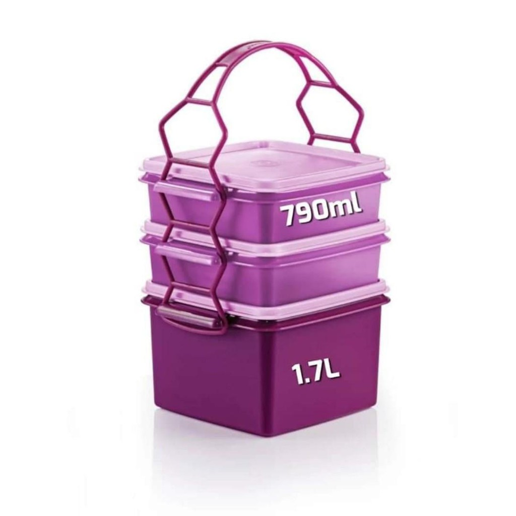 Tupperware Triffin Delight Set OR Double Deep With Carolier 1.7L