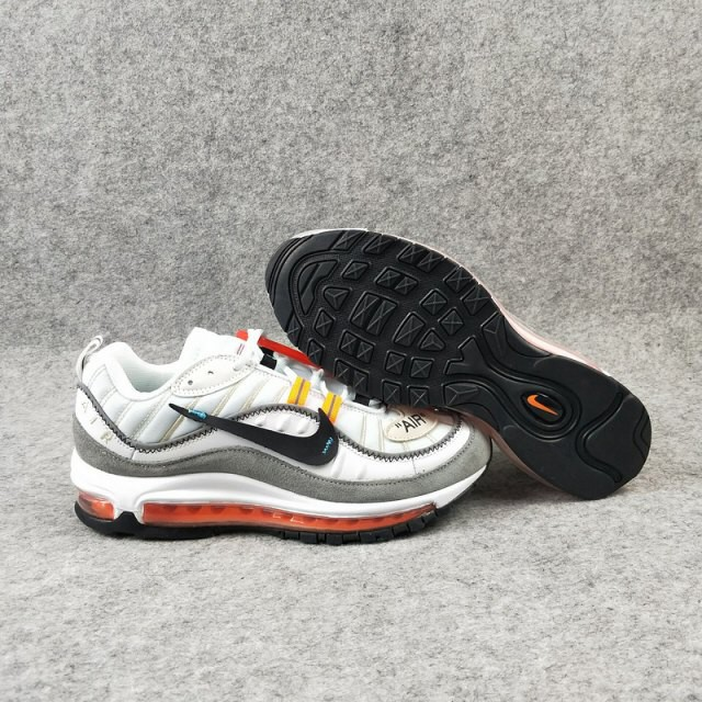 new product dac06 519e7 Nike Air Max 98 Off-White Grey Black (Oem) Premium Quality