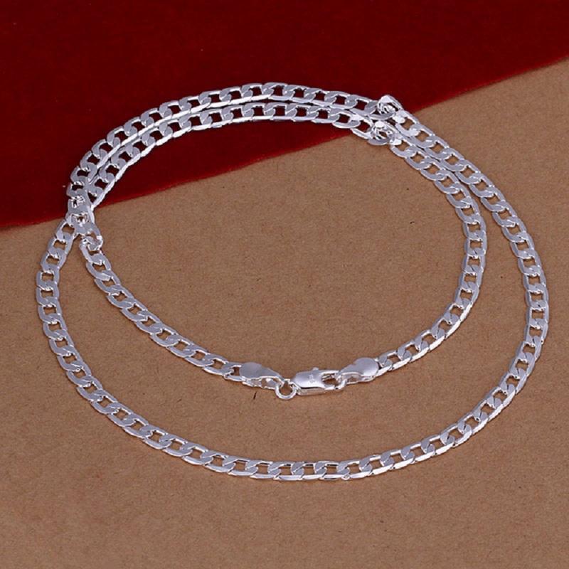 Men Simple Geometric Silver Necklace