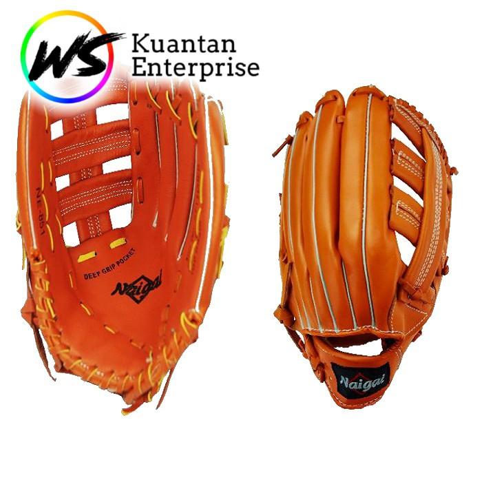 【100% Original】Naigai Softball Glove | Sarung Tangan Sofbol  (13 inch)