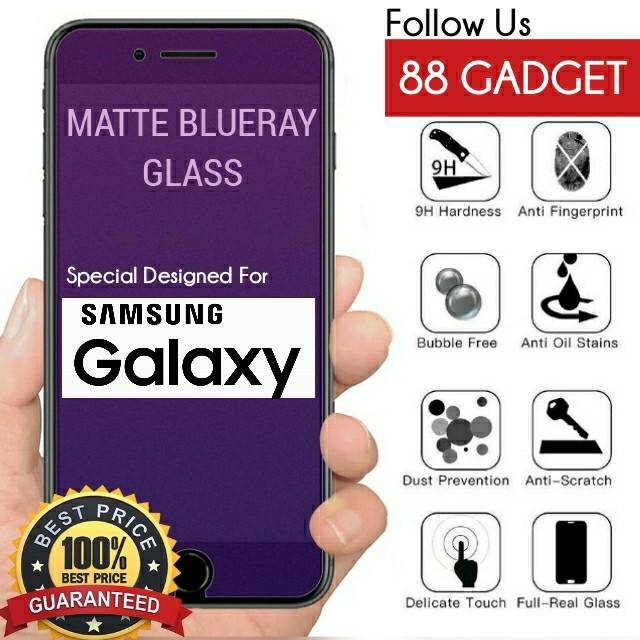 Samsung J7 / J710 / J7 Prime / J7 Pro / J7 Plus / J7 2018 Matte Anti Blue  Ray Tempered Glass