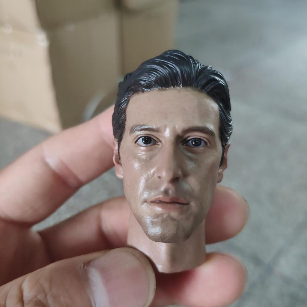 "1//6 Scale Godfather Marlon Brando Carved Head Sculpt Fit 12/"" Male Figure Body"