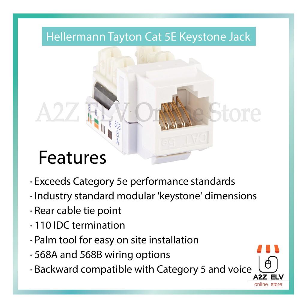 Hellermenn Tayton Cat 5e Keystone Jack