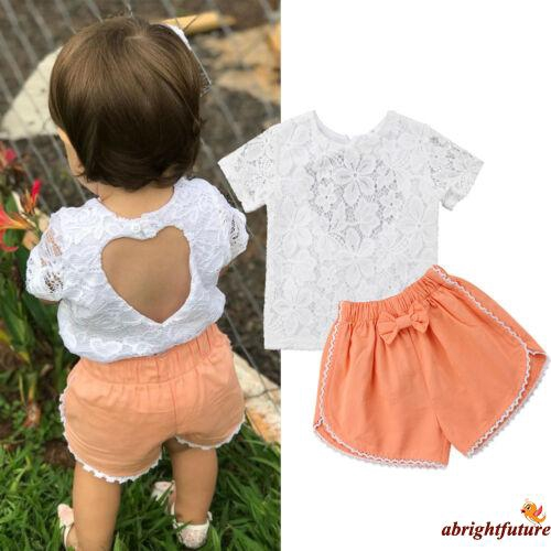 dba462239a71f ProductImage. ProductImage. ✤OD✤2Pcs Newborn Kids Baby Girl Lace Tops+Bowknot  Pants Summer Outfit Clothes