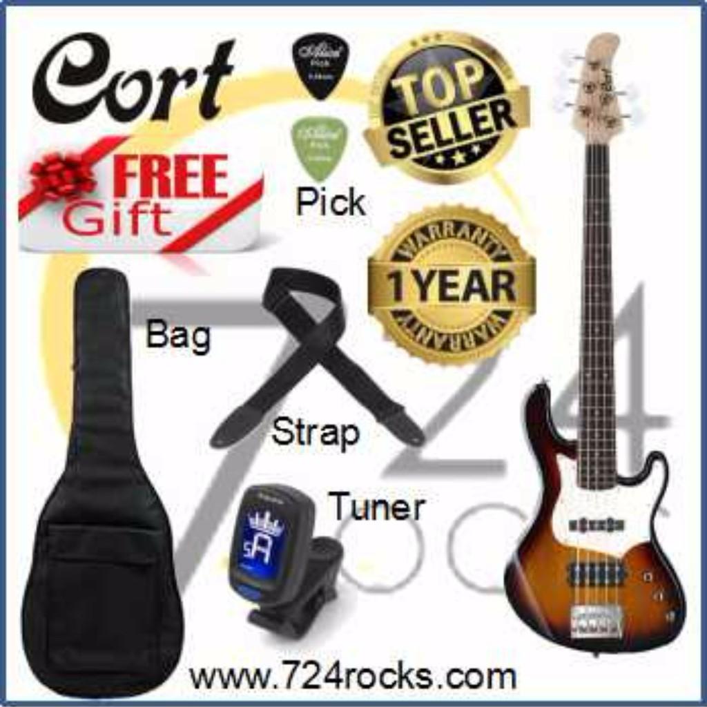 4aff2c6c1b4 Cort B4 FL Plus AS OPN Electric Bass Free Bag. Strap ,Tuner & picks |  Shopee Malaysia