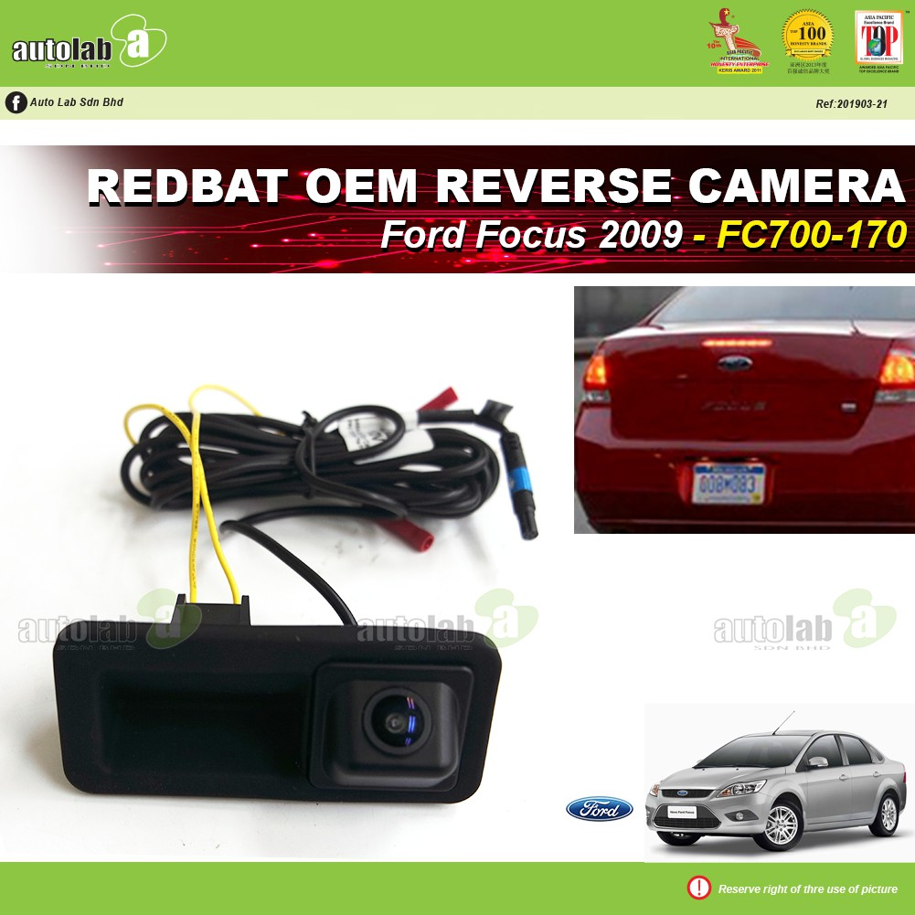 Redbat OEM Reverse Camera back door handle Ford Focus 2009 (Taiwan)