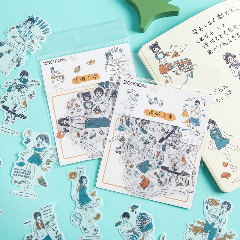40Pcs DIY Paper Diary Flower Sticker Korean Japanese Journal Scrap Booking Decor