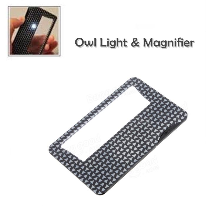 N/ANAY-S: LAMPU & KANTA PEMBESAR SAIZ POKETThe Owl Lite Credit Card Sized Magnifier And Light