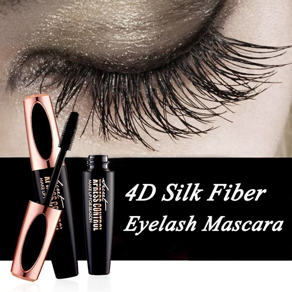 b118ee8aea1 4D Silk Fiber Lash Mascara New Long Curling Black Waterproof Fiber Mascara  | Shopee Malaysia