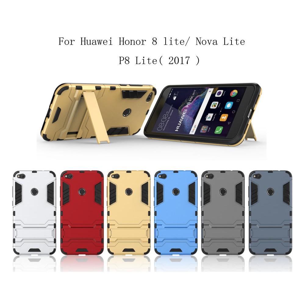 Silicone Hybrid Rubber Cover For Huawei Honor 8 Lite / Nova Lite / P8  Lite(2017)