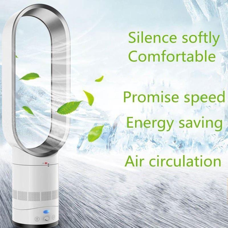 UK 360° Silent No Leaf Fan Mini Portable Bladeless Cooler Air Conditioner Low db