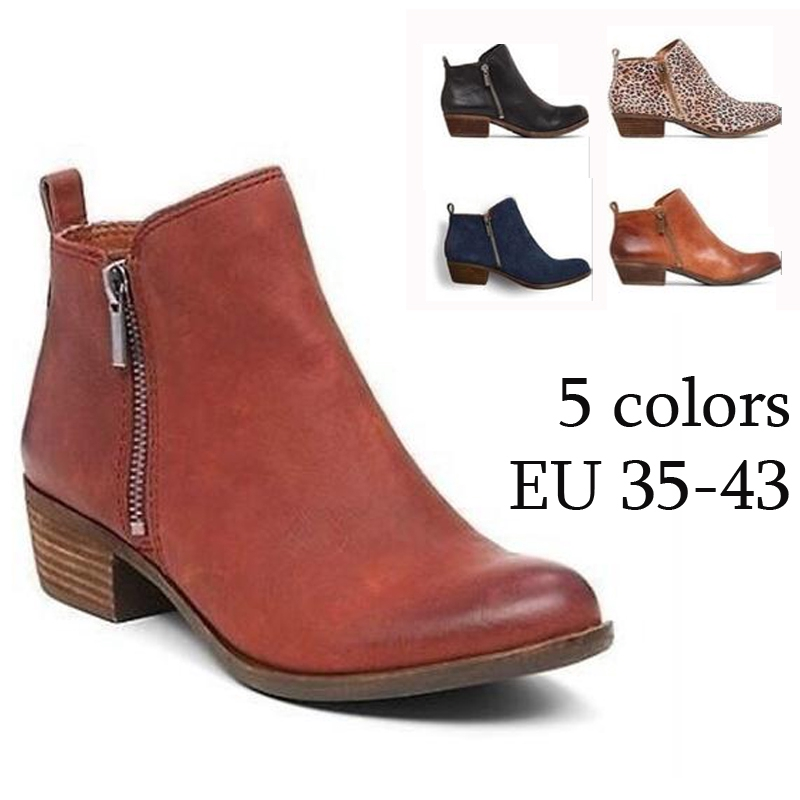 e47a13d862b6 Casual Women's Fashion Thick Heel Boots Pure Color Work Boots