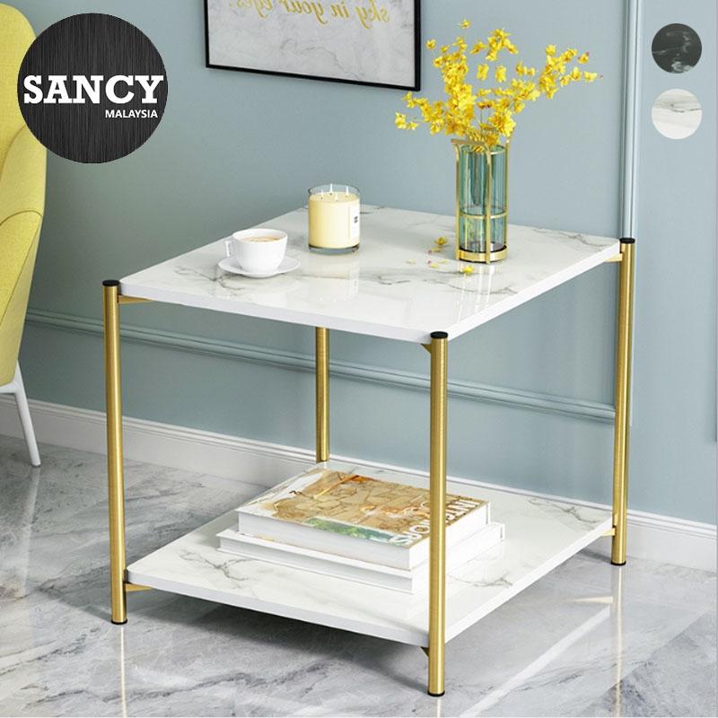 Phenomenal Sancy Modern Minimalist Wooden Small Square Coffee Table Nordic 2 Layer Tea Desk Living Room Bedroom Sofa Side H88 Machost Co Dining Chair Design Ideas Machostcouk