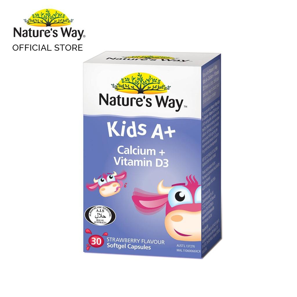 Nature s Way KID S A+ Calcium + Vit D3 90S  d7f8fdce69e91