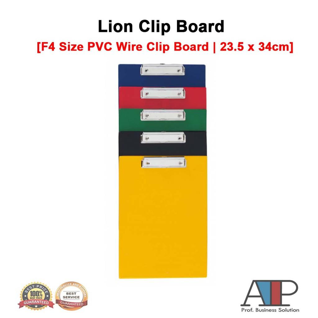 Lion F4 Size PVC Wire Clip Board