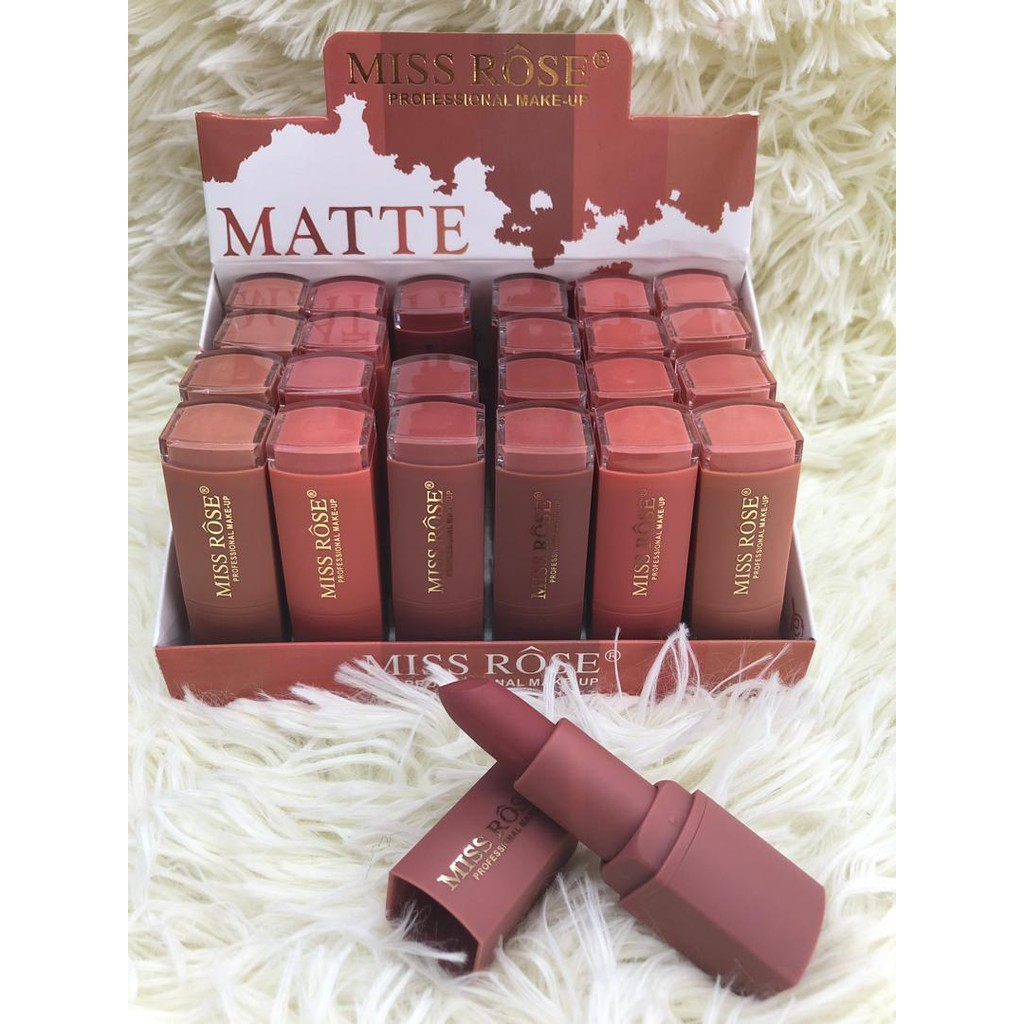 New Miss Rose Matte Lipstick Box 24 in 1