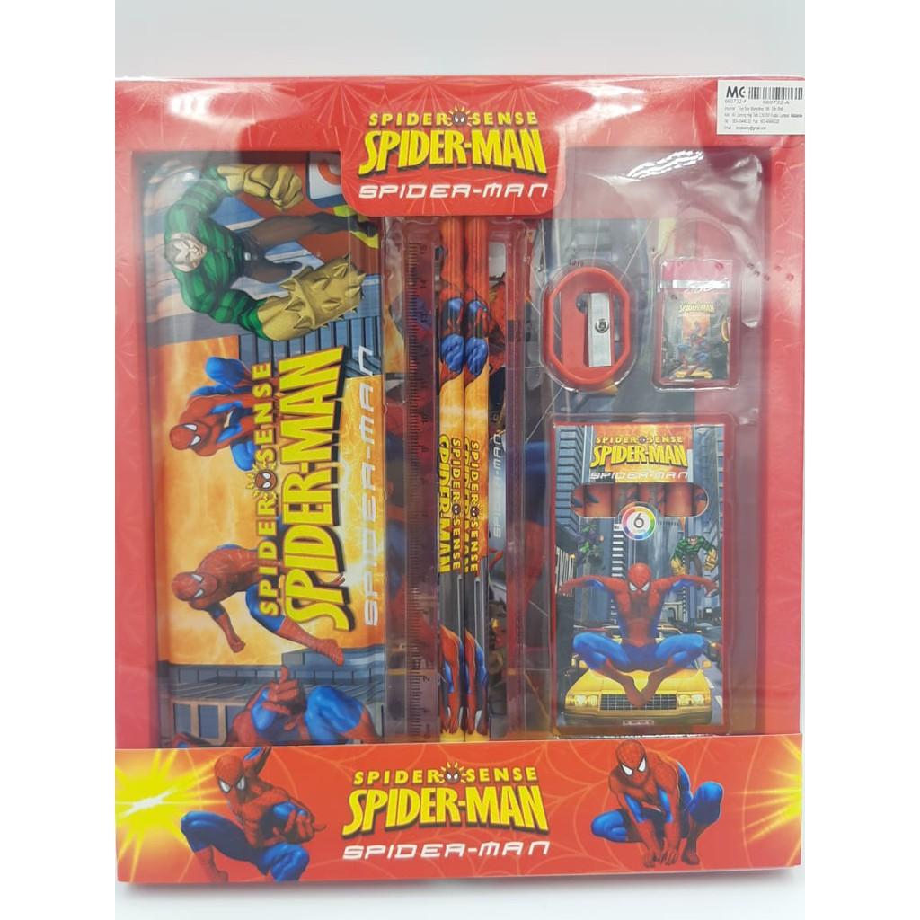 7 Pcs Spiderman,Pony,Princess,Minion Cartoon Stationery Set for kids.
