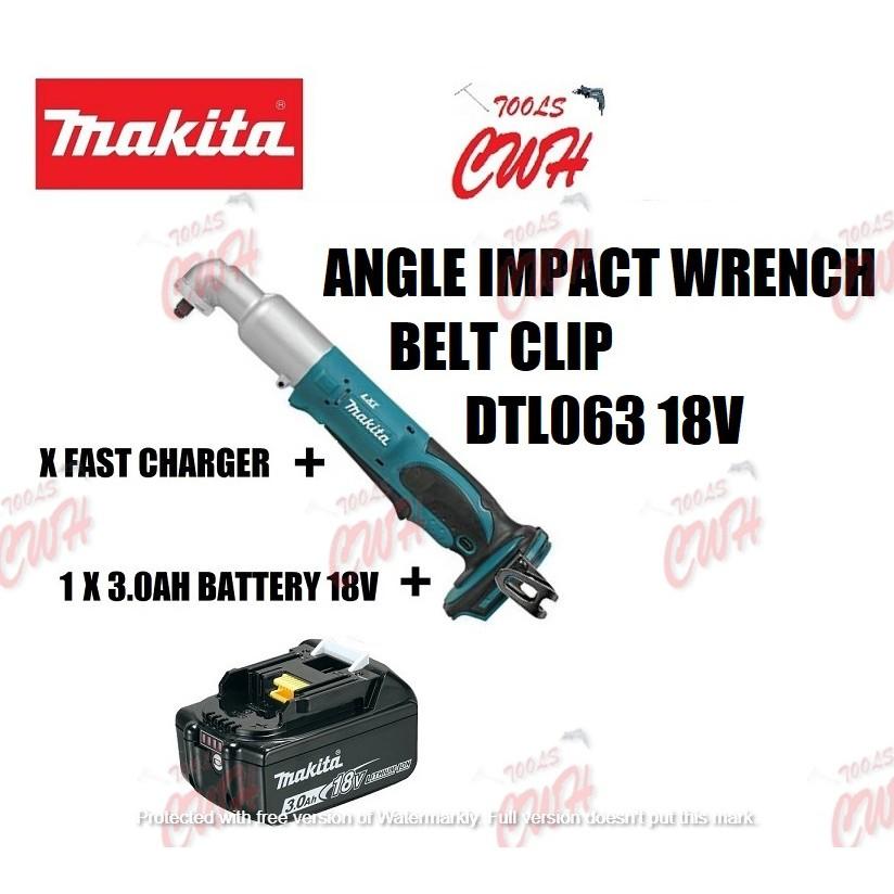 "MAKITA DTL063 18V 3/8"" CORDLESS ANGLE IMPACT WRENCH DRIVER BELT CLIP DTL063Z CORDLESS ANGLE IMPACT WRENCH BELT CLIPS"