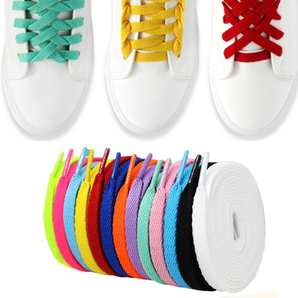 1 Pair Flat Populaire Atletische Sports Shoelaces Sneakers Platte Schoenveters