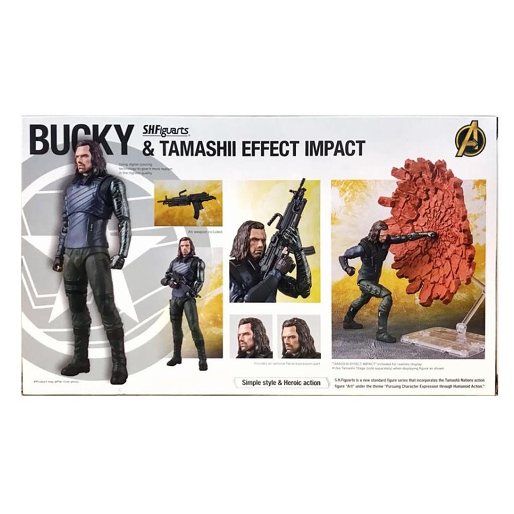 Avengers Infinity War Bucky and Tamashii Effect Impact Action Figure