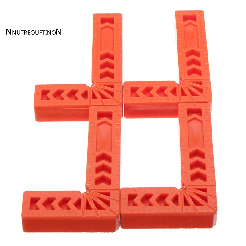 4Pcs 90° Right Angle Corner Clamp Clip Fixer Ruler Clamp Woodworking Hand Tool