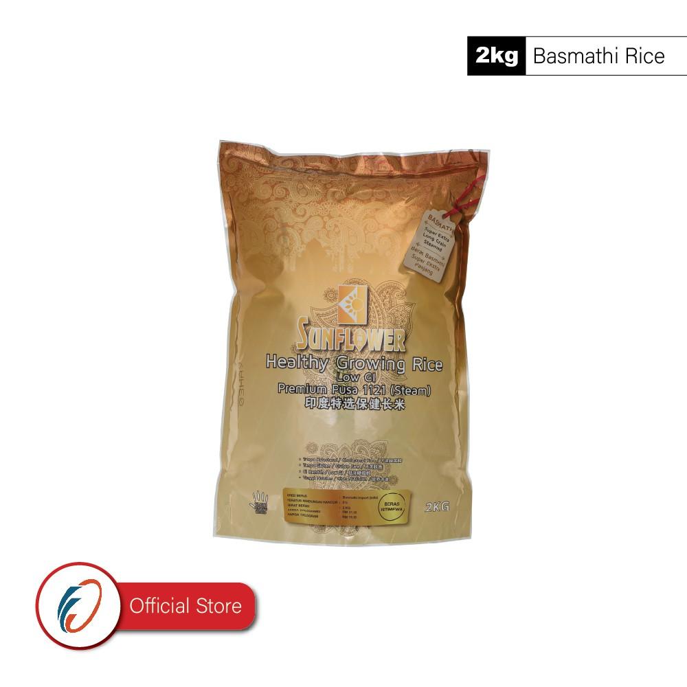 Sunflower Healthy Growing Rice Premium Basmathi Pusa 1121 - Steam (2kg Zip-lock)