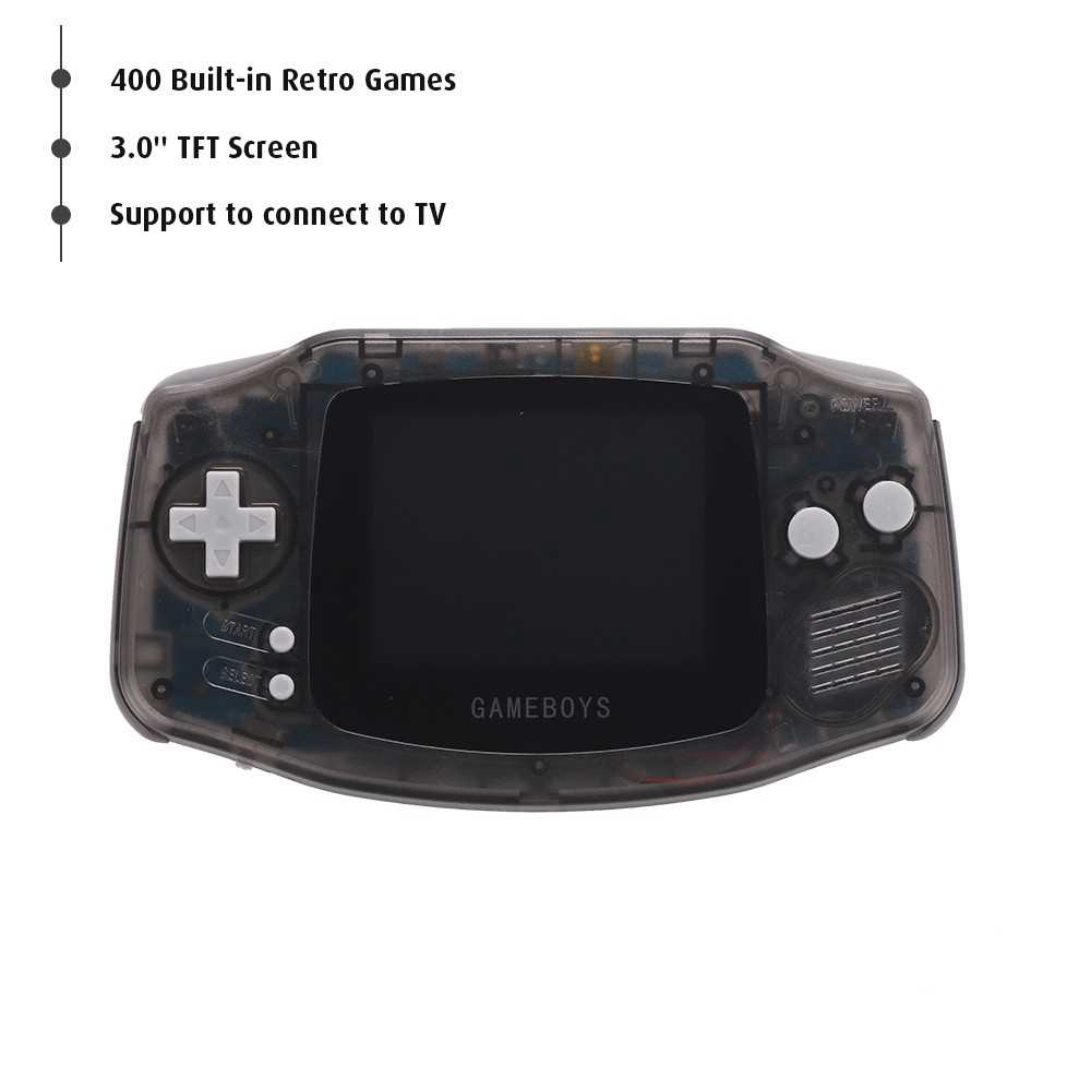 RS-5 Portable Handle Gaming Console 400 Built-in Retro Games 3.0' LCD Screen Birthday Gift for Kids (Black)