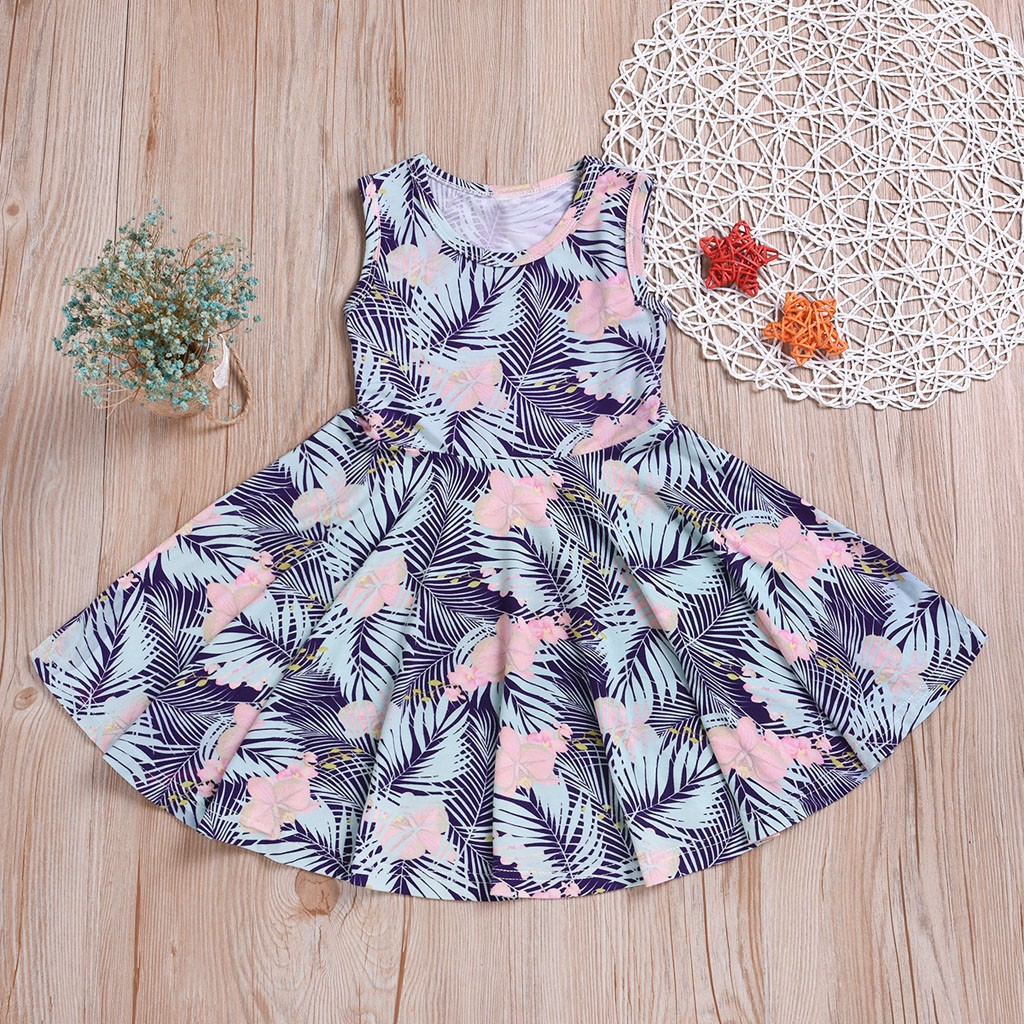 cd66fbc32c939 ༺༒༻tracymic༺༒༻ Summer Toddler Infant Baby Kids Floral Printed Princess  Dress Outfits Clothing