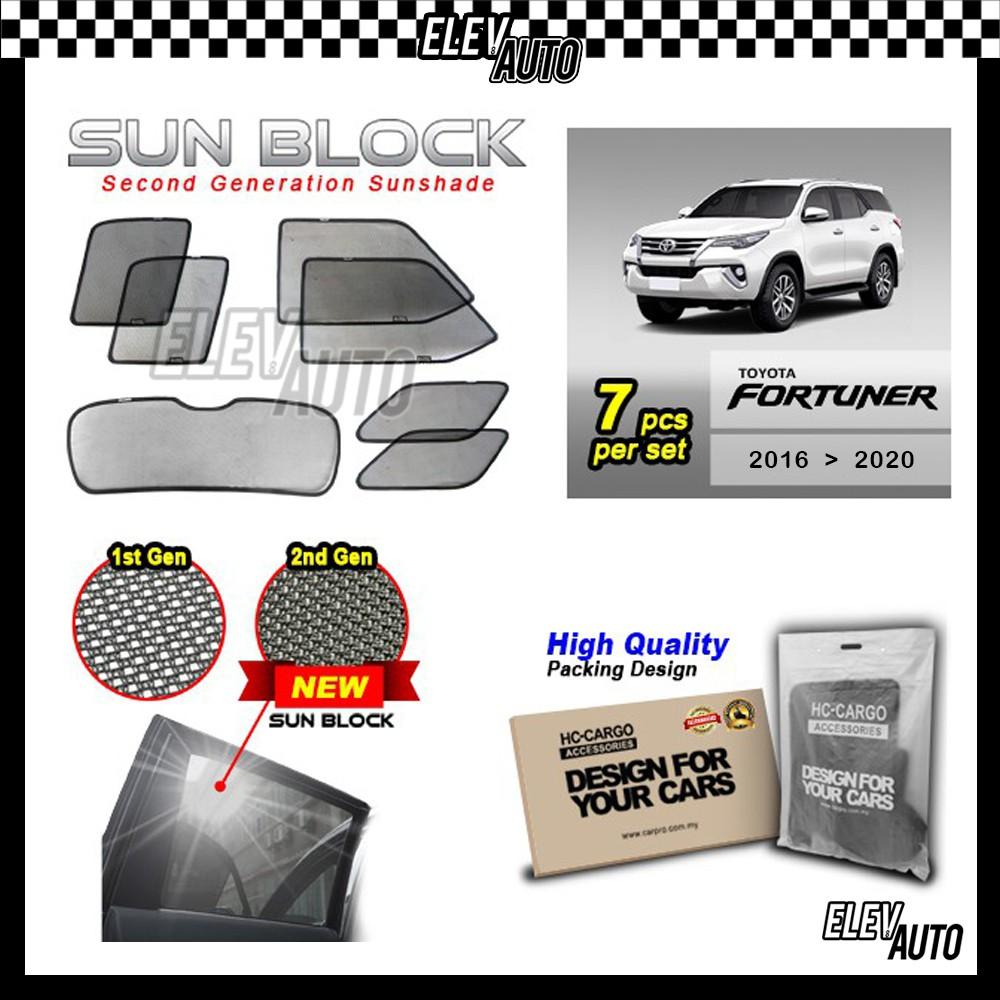 Toyota Fortuner 2016-2021 SUN BLOCK Premium Magnetic Sunshades