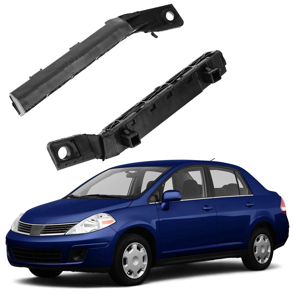 2pcs Car Front Bumper Support Bracket for Nissan Versa 07-12
