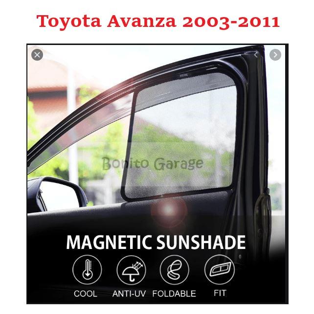 Magnetic Sunshade Toyota Avanza 2003-2011 6pcs
