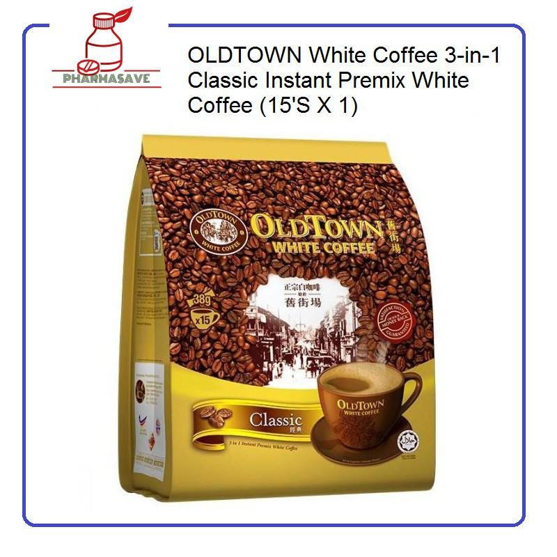 OLDTOWN White Coffee 3-in-1 Classic Instant Premix White Coffee (15'S X 1)