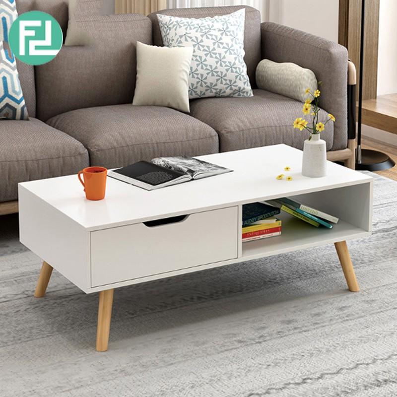 Furniture Direct COPENHAGEN 3FT COFFEE TABLE-WHITE