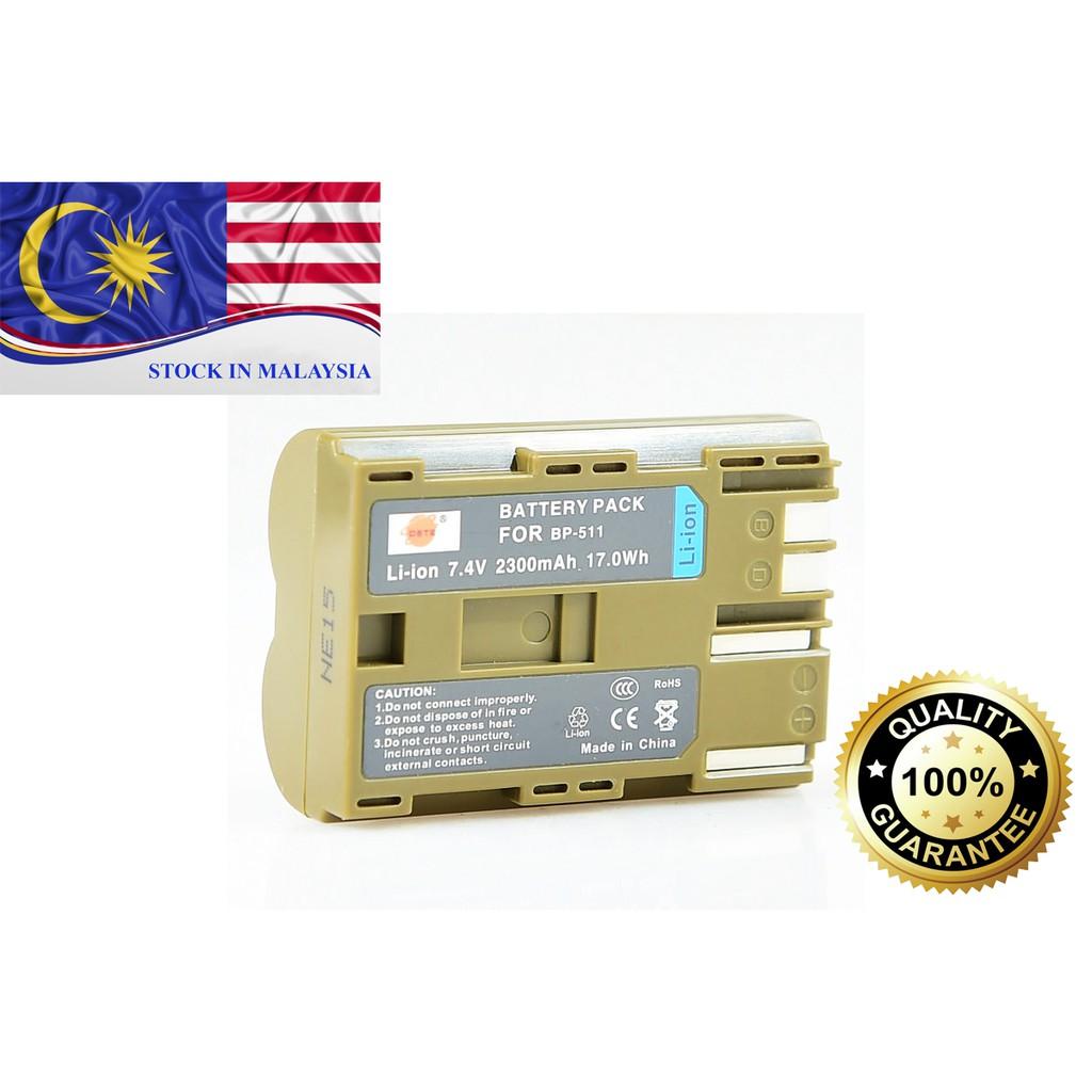 DSTE BP-511 For Canon EOS 10D, 20D, 300D, 30D, PowerShot G3, G5, G6 (Ready Stock In Malaysia)