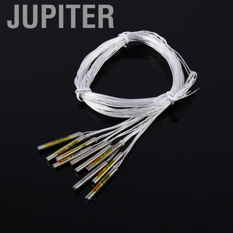 Temperature Controller Waterproof Sensor Probe 10 Pcs PT100 Sensor Probe for Temperature/ Control/ Switch