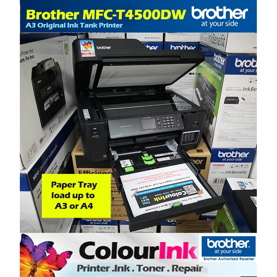 Brother MFC-T4500DW Original Ink Tank A3 Duplex A3 Scan