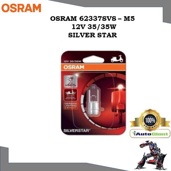 OSRAM 62337SVS - M5 12V 35/35W SILVER STAR LAMPU DEPAN MOTOR
