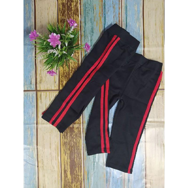 Kids Legging Double Line soft Cotton Jogger Exercise Pants / Seluar Budak <NHSTORE