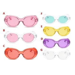 3b9353123 Oval Glasses Glitter Lenses Eyewear Translucent Lens Sunglasses Women Super  Star Shades Sun Glassses | Shopee Malaysia