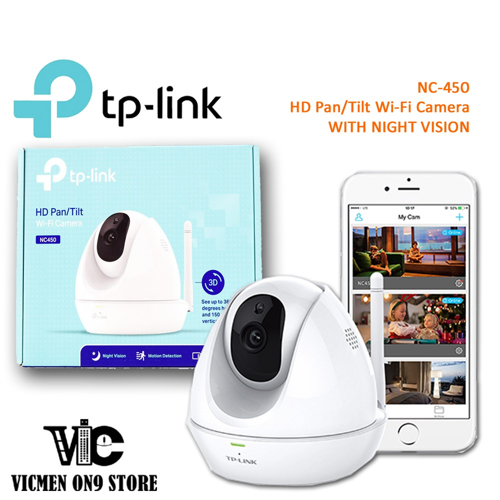 TP-LINK NC450 HD Pan / Tilt Cloud Wireless WiFi IP Camera
