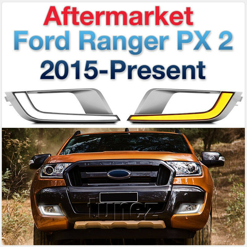 LED Daytime Running Light DRL For Ford Ranger T6 MK1 2011-2015 Wiltrak Limited 2