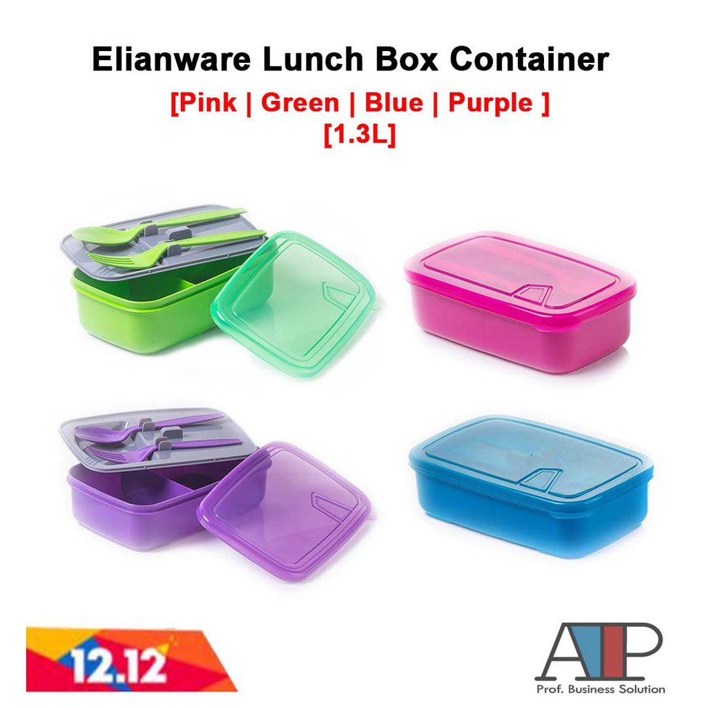 Elianware Compartment Lunch Box / Food Keeper / Kids Lunch Box E-1222 | Shopee Malaysia