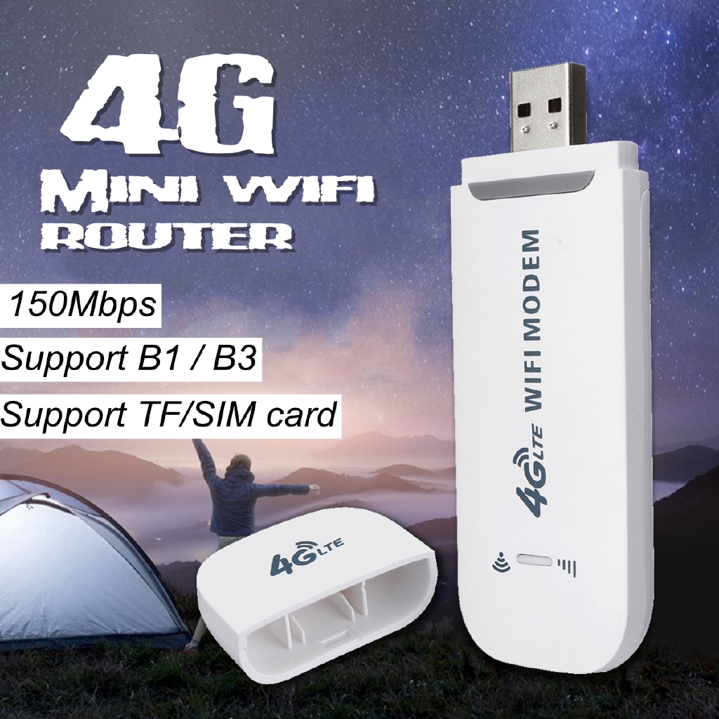 Unlocked 4G LTE WIFI Wireless USB Dongle Stick Mobile Broadband Modem SIM  Card