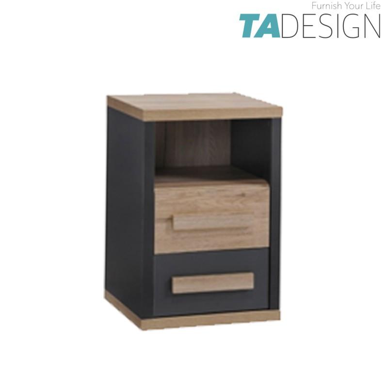TAD KOBI 2 drawers bedside table,bedside cabinet, bedside drawer