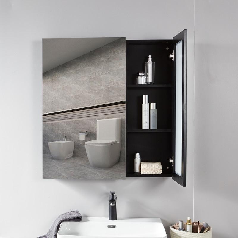 Space Aluminum Bathroom Mirror Cabinet, Lightweight Bathroom Mirror